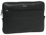 Cellini Dublin Leather Zip Portfolio Black EX336