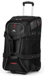 High Sierra AT7 66cm Wheeled Duffel with Backpack Straps Black 57019