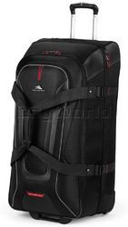 High Sierra AT7 81cm Wheeled Duffel with Backpack Straps Black 57020