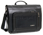 "Samsonite Savio Leather II 15.4"" Laptop Messenger Bag Black 59008"