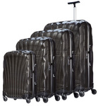 Samsonite Cosmolite FL Hardside Suitcase Set of 4 Black 53449, 53450, 53451, 53452 with FREE Samsonite Luggage Scale 34042