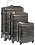 American Tourister HS MV+ Hardside Suitcase Set of 3 Black Checks 31001, 31009, 31010 with FREE Samsonite Luggage Scale 34042