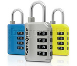Samsonite 4 Dial Combination Lock with Interchangeable Covers Yellow 34009