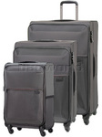 Samsonite 72 Hours Softside Suitcase Set of 3 Platinum Grey 51440, 58352, 58353 with FREE Samsonite Luggage Scale 34042