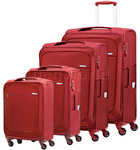 Samsonite B'Lite Xtra Softside Suitcase Set of 4 Chilli Red 57160, 57161, 57162, 57163 with FREE Samsonite Luggage Scale 34042