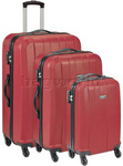 Antler Quadrant Hardside Suitcase Set of 3 Red 32926, 32923, 32922 with FREE GO Travel Luggage Scale G2008