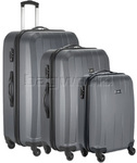 Antler Quadrant Hardside Suitcase Set of 3 Charcoal 32926, 32923, 32922 with FREE GO Travel Luggage Scale G2008