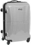 Jeep Rubicon Medium 66cm Hardside Suitcase Silver 8400B