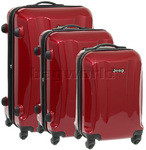 Jeep Rubicon Hardside Suitcase Set of 3 Cherry 8400C, 8400B, 8400A with FREE Travelon Luggage Scale 12636