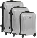 Jeep Rubicon Hardside Suitcase Set of 3 Silver 8400C, 8400B, 8400A with FREE Travelon Luggage Scale 12636