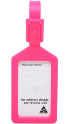 Airport Plastic Luggage Tag Pink 25568