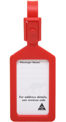 Airport Plastic Luggage Tag Red 25568