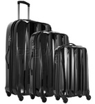 Antler Tiber Hardside Suitcase Set of 3 Black 34826, 34823, 34822 with FREE GO Travel Luggage Scale G2008