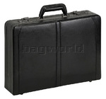"Solo Classic 16"" Laptop Expandable Leather Attache Black 471"