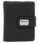 Cellini Durban Leather Purse Black T1169
