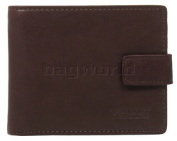 Vault Men's Fullgrain RFID Blocking Top Flap & Tab Leather Wallet Brown M023