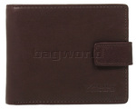 Vault Men's Fullgrain Cowhide RFID Blocking Top Flap & Tab Leather Wallet Brown M023