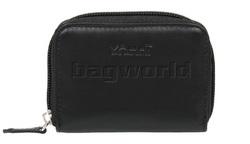 Vault Ladies' Fullgrain RFID Blocking Concertina Leather Card Holder Black VW007