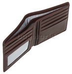 Vault Men's Fullgrain RFID Blocking Slimline Leather Wallet Brown M002 - 3
