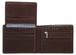 Vault Men's Fullgrain RFID Blocking Top Flap Leather Wallet Brown M003 - 3