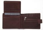 Vault Men's Fullgrain RFID Blocking Top Flap & Tab Leather Wallet Brown M023 - 3