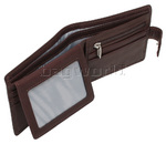 Vault Men's Fullgrain RFID Blocking Top Flap & Tab Leather Wallet Brown M023 - 4