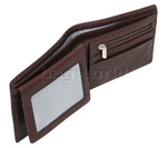 Vault Men's Fullgrain RFID Blocking Top Flap Leather Wallet Brown M003 - 4