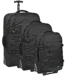 Pacsafe Toursafe AT Anti Theft Wheeled Duffel Set of 3 Black 50100, 50120, 50140 with FREE GO Travel Luggage Scale G2008
