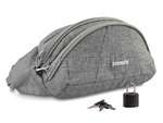 Pacsafe Stashsafe 100 GII RFID Blocking Anti Theft Hip Pack Grey Tweed PB024