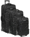 Pacsafe Toursafe EXP Anti Theft Wheeled Gear Bag Set of 3 Black 50160, 50180, 50200 with FREE GO Travel Luggage Scale G2008