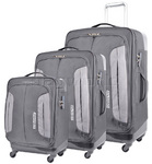 American Tourister Combimax Softside Suitcase Set of 3 Grey 60685, 60686, 60687 with FREE Samsonite Luggage Scale 34042