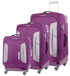 American Tourister Combimax Softside Suitcase Set of 3 Purple 60685, 60686, 60687 with FREE Samsonite Luggage Scale 34042