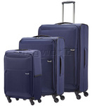 Samsonite 72 Hours Softside Suitcase Set of 3 Navy 51440, 60571, 60572 with FREE Samsonite Luggage Scale 34042