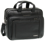 "Samsonite Savio Leather III 16"" Laptop Briefcase Black 57930"