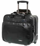 "Samsonite Savio Leather III 16"" Laptop Rolling Tote Black 57935"