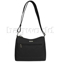 Travelon Classic RFID Blocking Anti-Theft Hobo Bag Black 42222