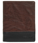 Cellini Men's Aston RFID Blocking Card Leather Wallet Brown MH205