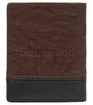 Cellini Men's Aston RFID Blocking Card Leather Wallet Brown MH205 - 1