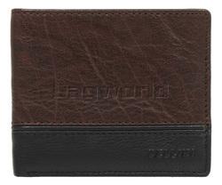 Cellini Men's Aston RFID Blocking Double Leather Wallet Brown MH206