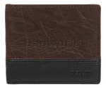 Cellini Men's Aston RFID Blocking Double Leather Wallet Brown MH206