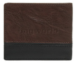Cellini Men's Aston RFID Blocking Double Leather Wallet Brown MH206 - 1