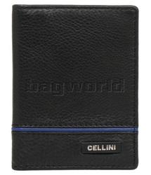 Cellini Men's Noble RFID Blocking Leather Wallet Black M0371