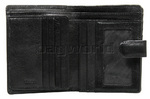 Cellini Ladies' Tuscany Medium Book Leather Wallet Black W0110 - 2