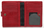 Cellini Ladies' Tuscany Medium Book Leather Wallet Red W0110 - 5