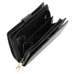 Cellini Ladies' Tuscany Medium Book Leather Wallet Black W0110 - 4