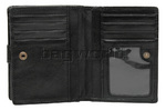Cellini Ladies' Tuscany Medium Book Leather Wallet Black W0110 - 5