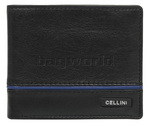 Cellini Noble Men's Leather RFID Blocking Wallet Black M0373