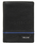Cellini Noble Men's Leather RFID Blocking Wallet Black M0374