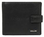 Cellini Shelby Men's Leather RFID Blocking Wallet Black M0388