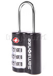 Samsonite Travel Accessories TSA 3-Dial Metal Lock Black 62842